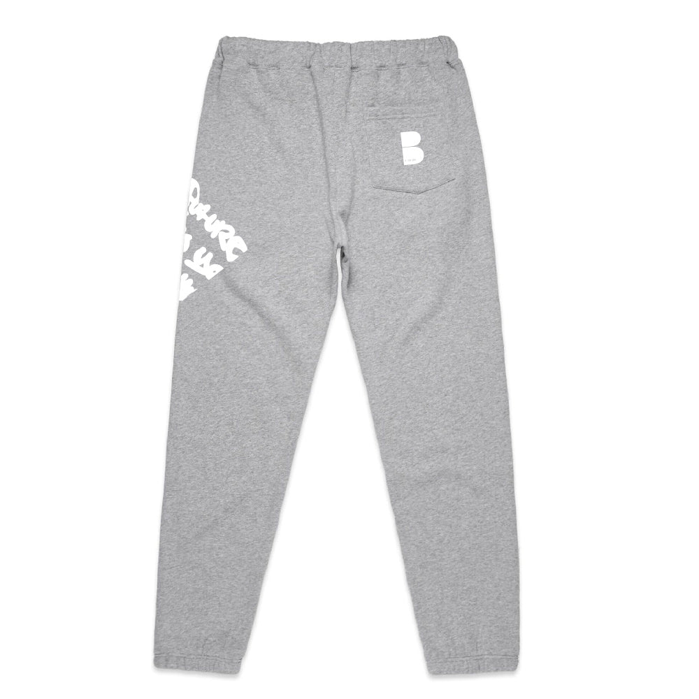 Renegade Graffiti Grey Joggers With White
