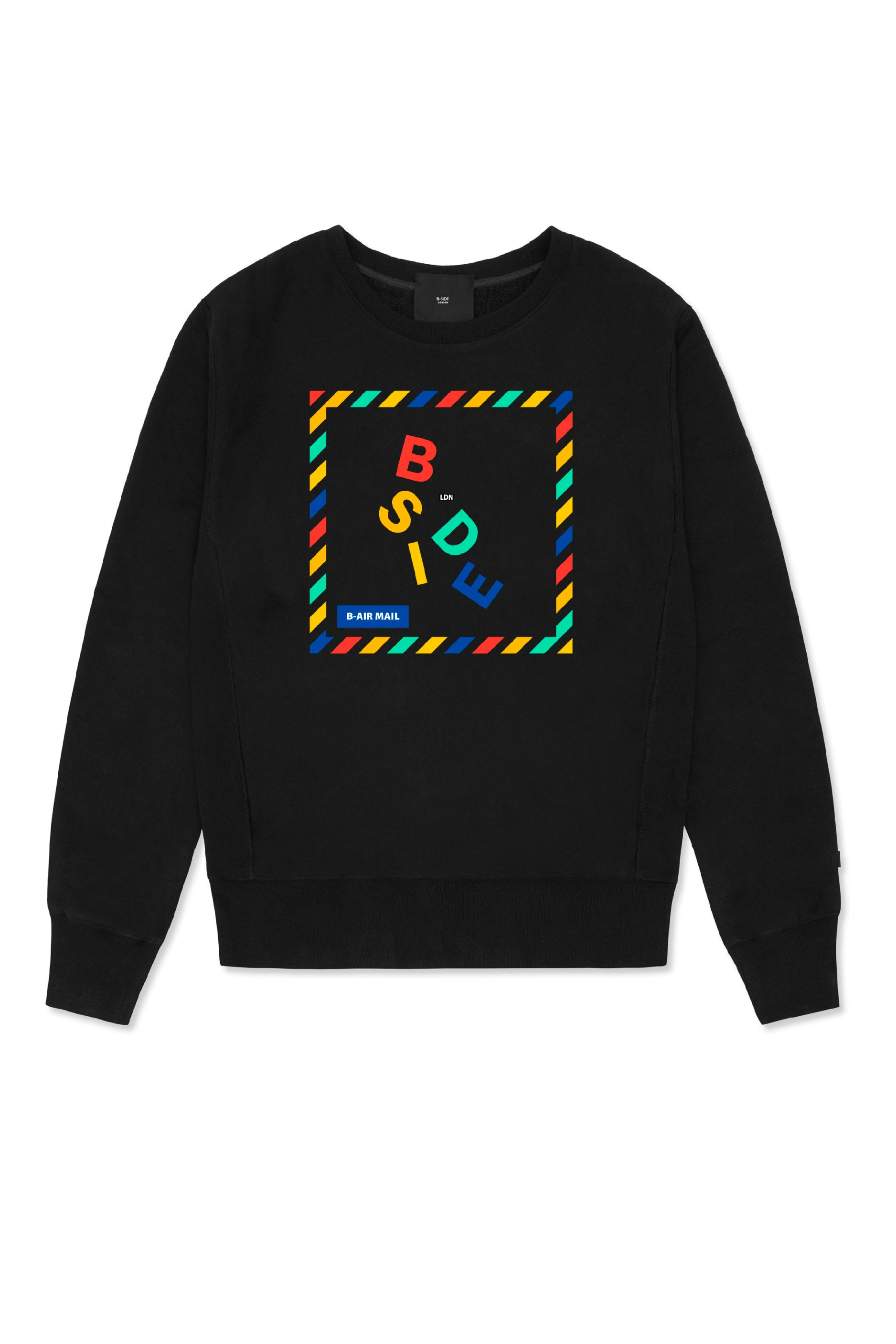 Black Sweatshirt - B-mail Print