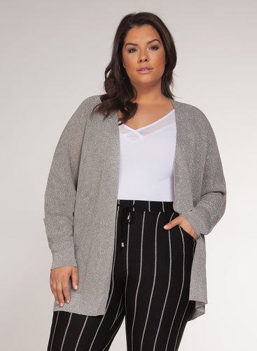 Plus Shimmer Cardigan - Backwards Boutique