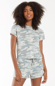 Z Supply Camo Modern Crew Tee - Sage - Backwards Boutique
