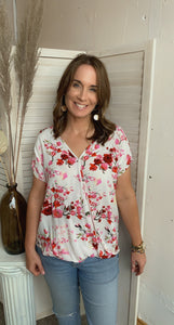 Field of Flowers Blouse - Backwards Boutique