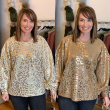 Load image into Gallery viewer, Enjoy the Day Leopard Sweater - Backwards Boutique