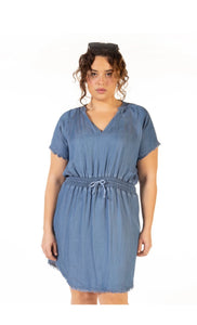 Dex Plus Denim Dress - Backwards Boutique