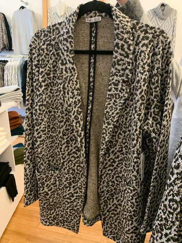 Plus Leopard Jacket - Backwards Boutique