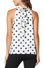 Load image into Gallery viewer, Liverpool Mock Neck Dot Tank - Backwards Boutique