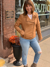Load image into Gallery viewer, Liverpool Moto Camel Jacket - Backwards Boutique