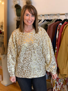 Enjoy the Day Leopard Sweater - Backwards Boutique