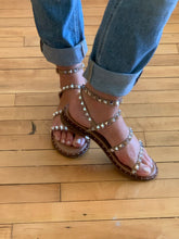 Load image into Gallery viewer, Steve Madden Travel Tan Sandal - Backwards Boutique