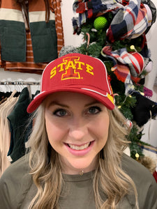 Iowa State Collegiate Hat - Backwards Boutique