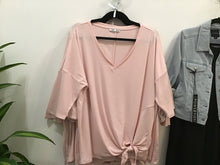Load image into Gallery viewer, Dex Blush Knot Front  Top - Backwards Boutique