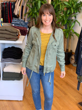 Load image into Gallery viewer, Summer Fun Olive Jacket - Backwards Boutique