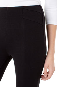 Liverpool Black Reese Seamed Legging - Backwards Boutique