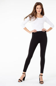 Liverpool Black Reese Seamed Legging