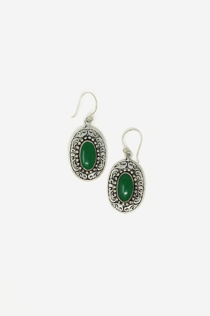 Silver & Stone Earrings