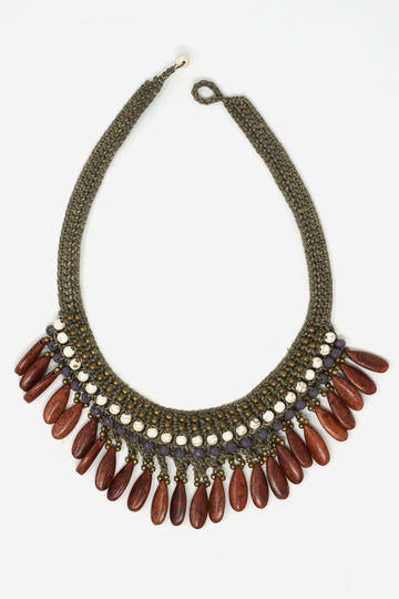 Thai Cord Stone Necklace