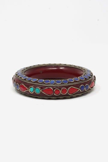 Resin Stone Inset Bangle