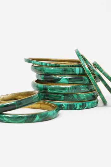 Medium Malachite Bangle