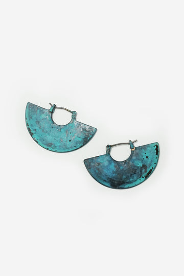 Turquoise Industrial Fan Earrings