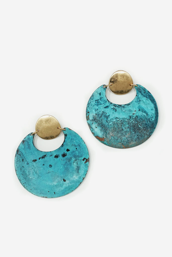 Turquoise Sphere Earrings