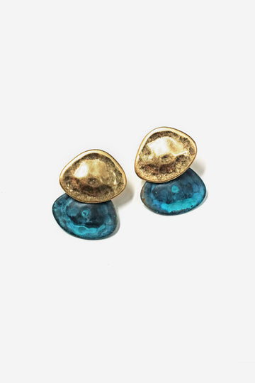 Turquoise Overlap Earrings
