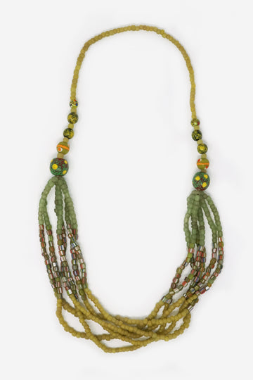 Glass Beaded Statement Necklace