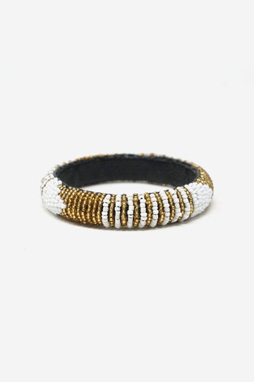 Leather Beaded Bangle