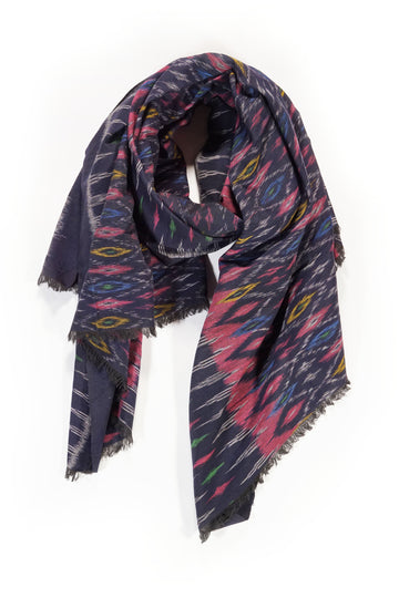 Handwoven Ikat Scarf