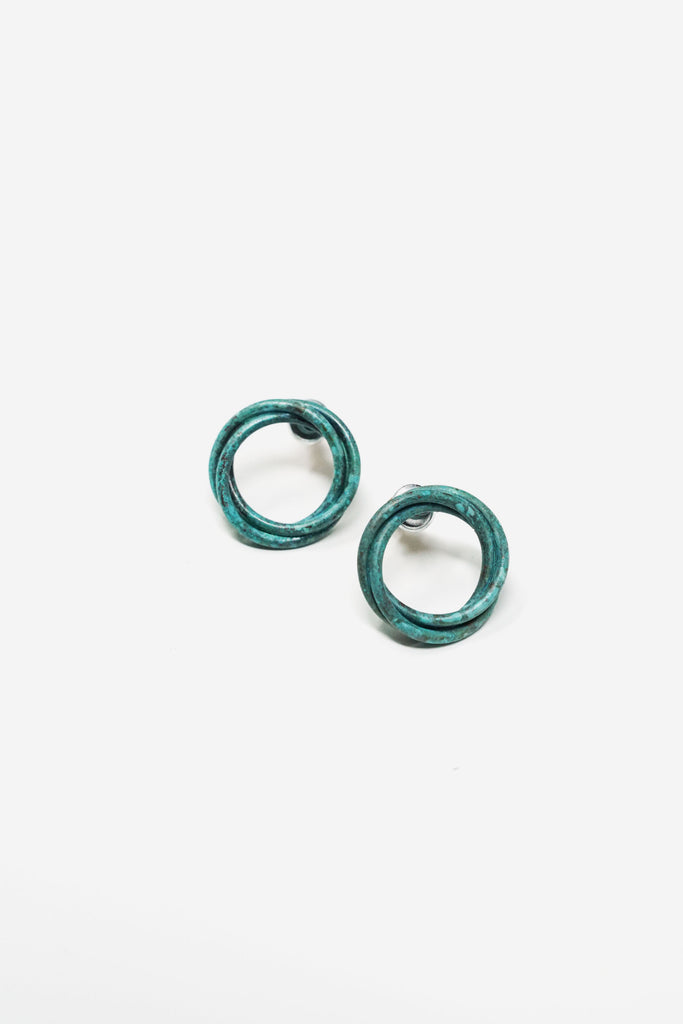 Twisted Circle Stud Earring
