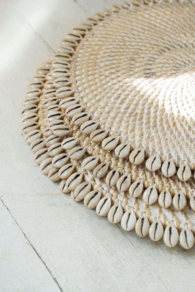 Shell Rattan Placemat Set