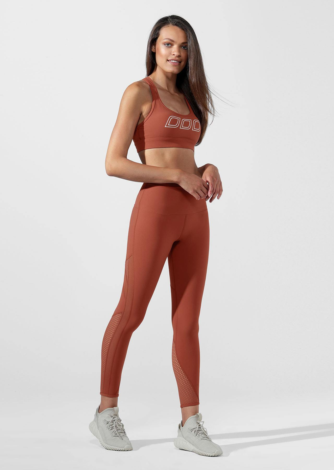 ICONIC SPORTS BRA - RUST
