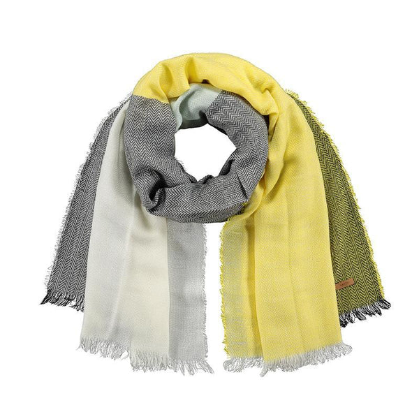 Cefalu Herringbone Colour Blocked Scarf (colours)