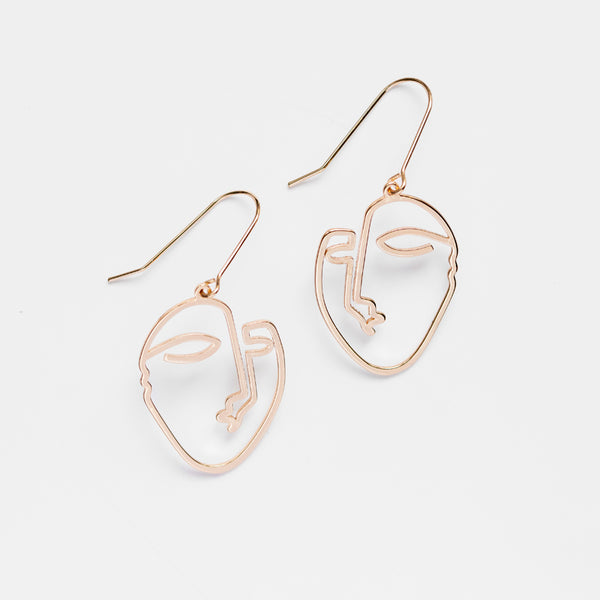 Divna Face Earrings