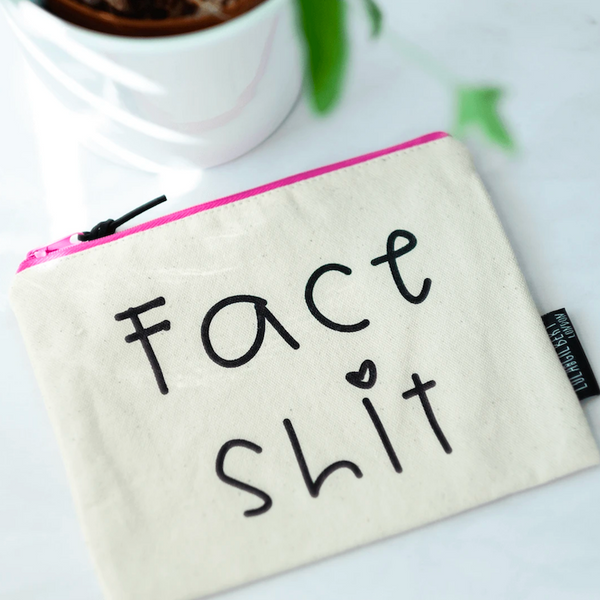 Face Shit Canvas Pouch