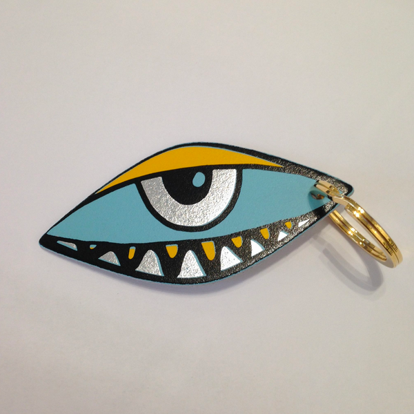 Eye Eye Leather Key Fob