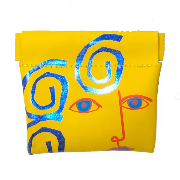 Yellow Face Snap Purse