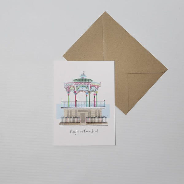 Bandstand card from Ilona Drew's landmarks range. Beautiful and colourful/