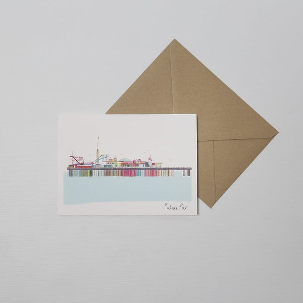 Palace pier card from Ilona Drw's landmark range. Beautiful and colourful