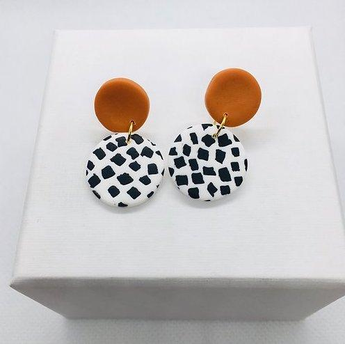 Dotty & Mustard Mini Earrings