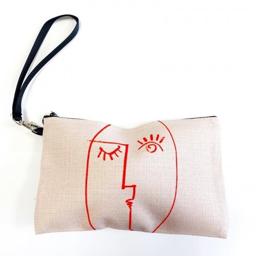 Winking Woman Pouch/Make up Bag