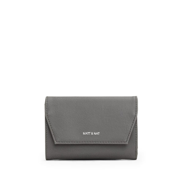small fold out vegan leather wallet called the Vera by Matt & Nat.