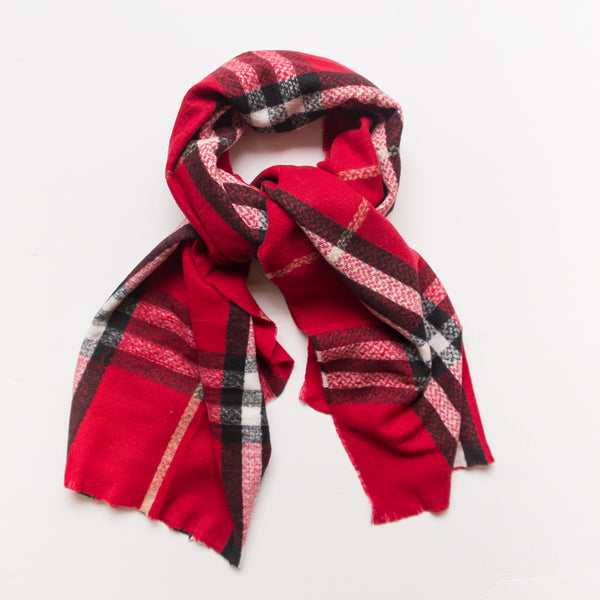 Check Blanket Scarf (colours)