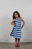Take Me Away Dress - Washed Navy & White Stripe