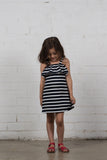 Go Nautical Dress - Navy & White Stripe