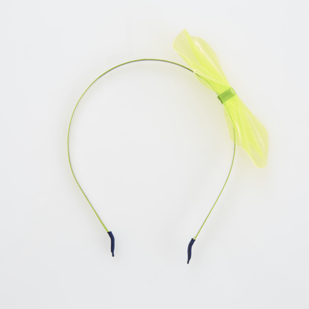 Get Happy Headband - Neon Yellow