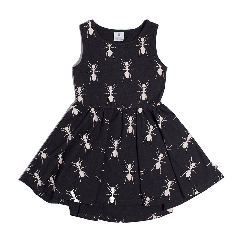 DAY OF THE ANTS DRESS - BLACK MARLE