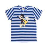 SUPER BOY TEE - COBALT/WHITE STRIPE