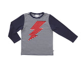 LIGHT UP TEE - NAVY/WHITE STRIPE