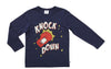 KNOCK DOWN TEE - WASHED NAVY