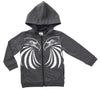 EAGLE PRIDE ZIP THRU HOODY - CHARCOAL MARLE
