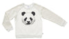 PANDA ME SWEATER - WARM WHITE/LIGHT GREY MARLE